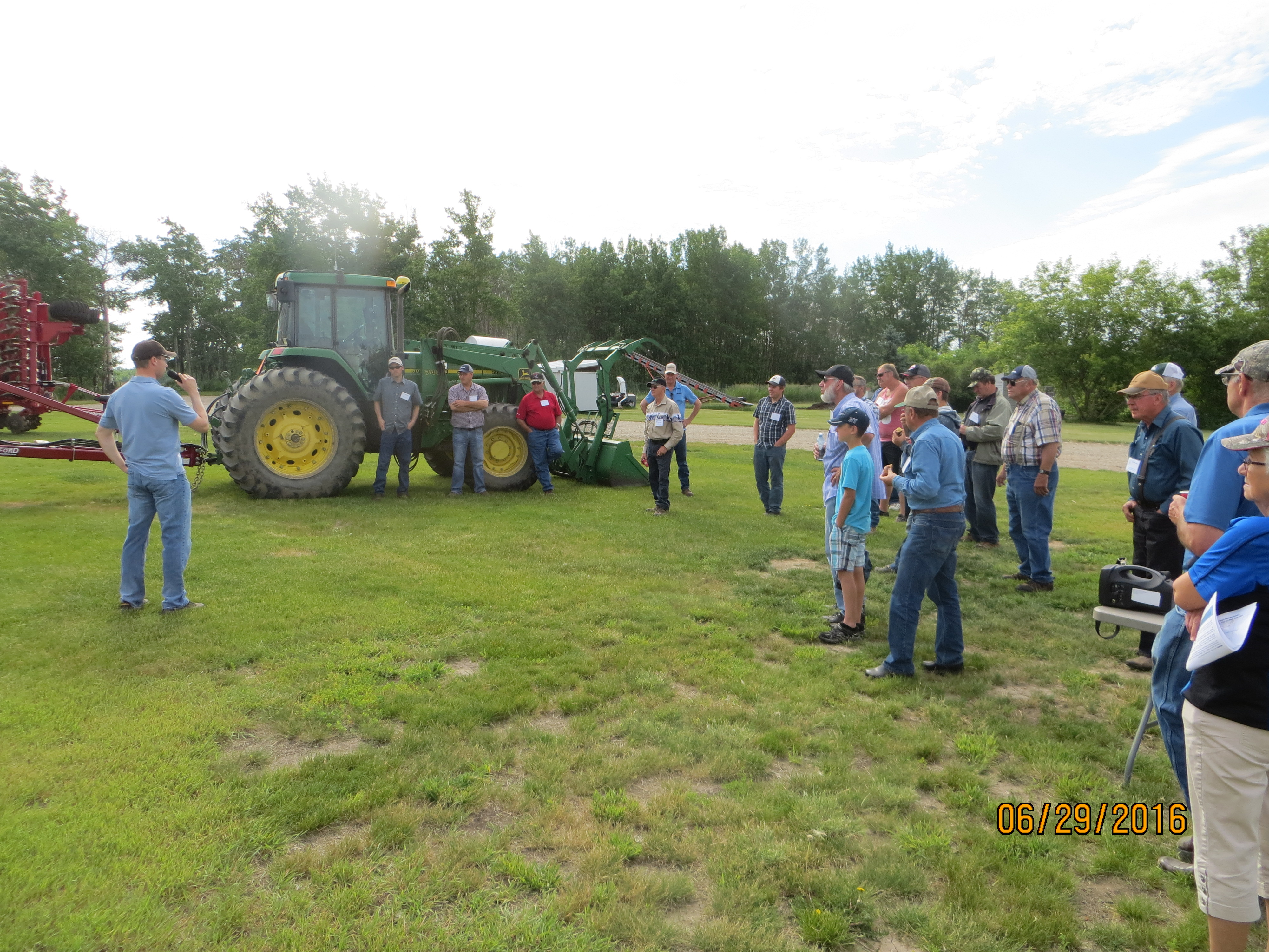 Blair Hill explains their vertical tillage implement